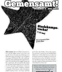 Gemensamt! nr 5/2012 & program för stadskampsveckan i Umeå