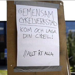 Cykelverkstadsallmänning på Ålidhem
