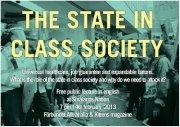 Public lecture: The state in class society [Inställt, flyttat till mars!]