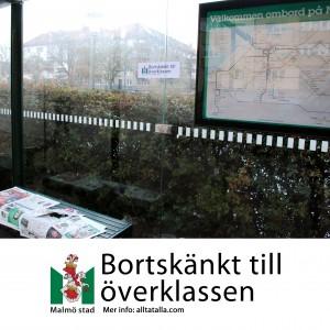 Bortskänkt till överklassen: busshållplatserna