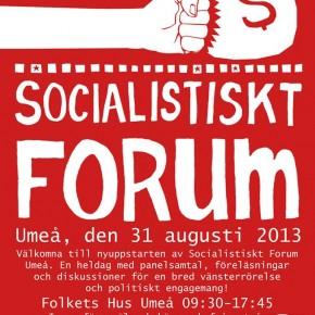 Medverkan på Socialistiskt Forum Umeå