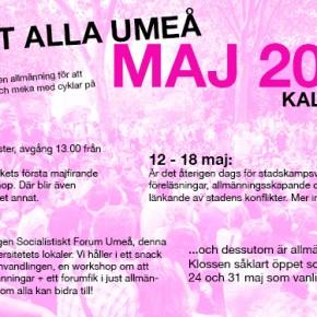 Allt åt Alla Umeå: Kalender för maj