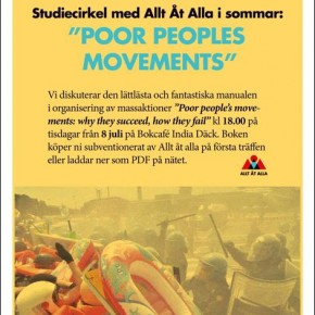 "Sommarstudier med Aåa Lund: ""Poor People's Movements: Why They Succeed, How They Fail"""