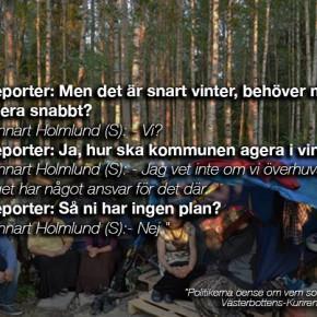 Om EU-migranternas situation i Umeå