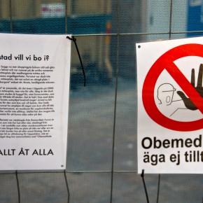 Uppsala - Obemedlade äga ej tillträde