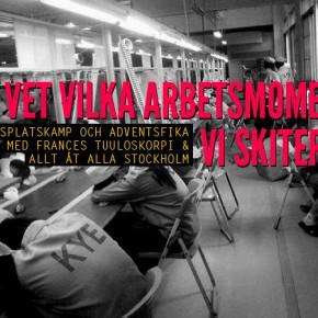 """""""VI VET VILKA ARBETSMOMENT VI SKITER I"""" - Arbetsplatskamp och adventsfika med Frances Tuuloskorpi & Allt åt Alla"""