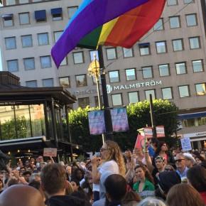 Tal från demonstration mot SDs tunnelbanereklam 2015-08-04